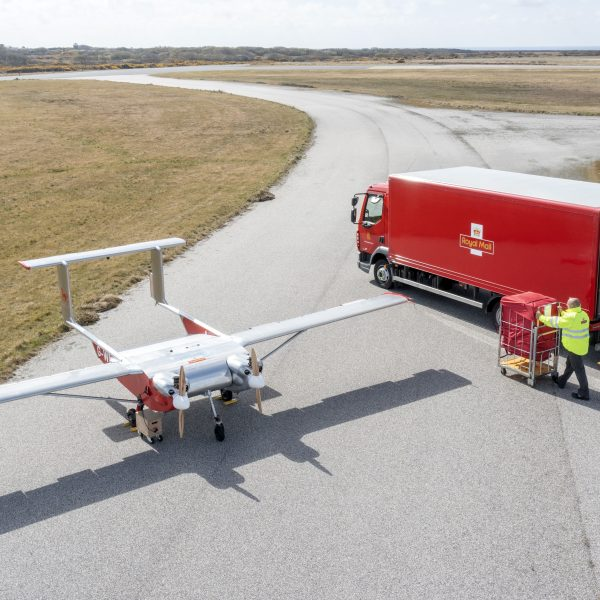 """Royal Mail has launched a landmark government-funded drone delivery trial marking a """"major"""" step forward for commercial drone deliveries in the UK."""