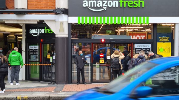 Amazon is set to overtake supermarket giant Tesco to become the UK's largest retailer in the next four years.