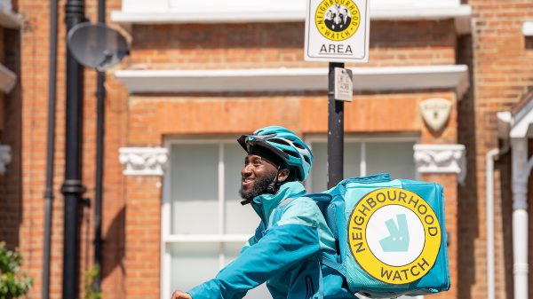 Deliveroo riders will now be trained to spot signs of domestic violence, drug dealing and human trafficking amid an ambitious new initiative designed to protect local neighbourhoods.