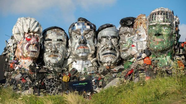 MusicMagpie has erected a giant sculpture made entirely of discarded electronics on a beach in Cornwall in a bid to highlight the growing threat of e-waste to G7 leaders.