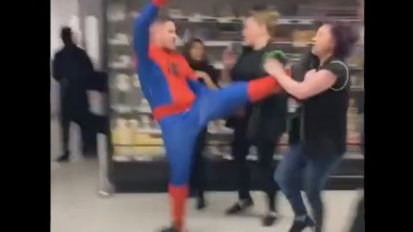 Videos of a man dressed in a Spiderman costume punching and kicking an Asda employees have driven yet more demands for new laws to crack down on violence towards shop workers.