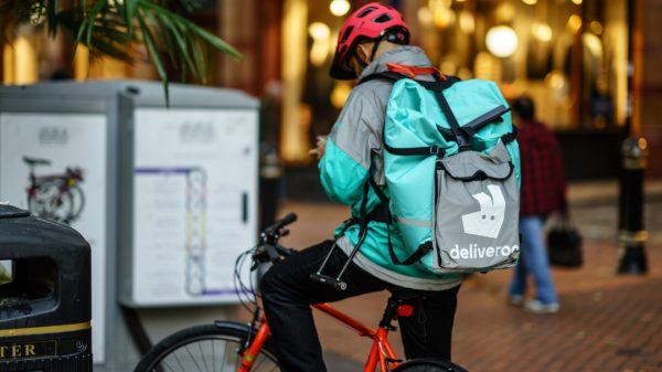 Deliveroo's German rival Delivery Hero has purchased a five per cent stake in the company, sending its shares to their highest level since it went public earlier this year.