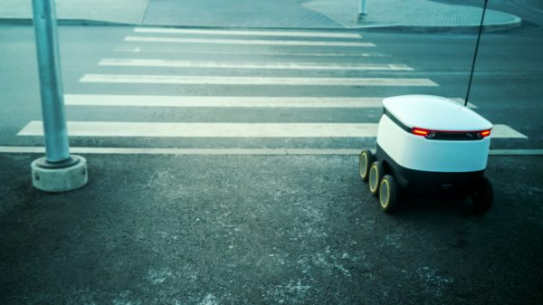 """Alibaba says its recently launched army of delivery robots can outperform their human counterparts because they don't stop for """"smoke breaks""""."""