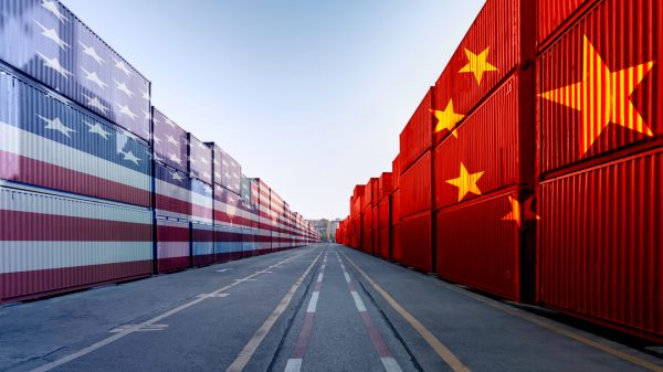 Container shipping rates between the US and China continue to rise sharply according to data from freight-tracking firm Freightos.