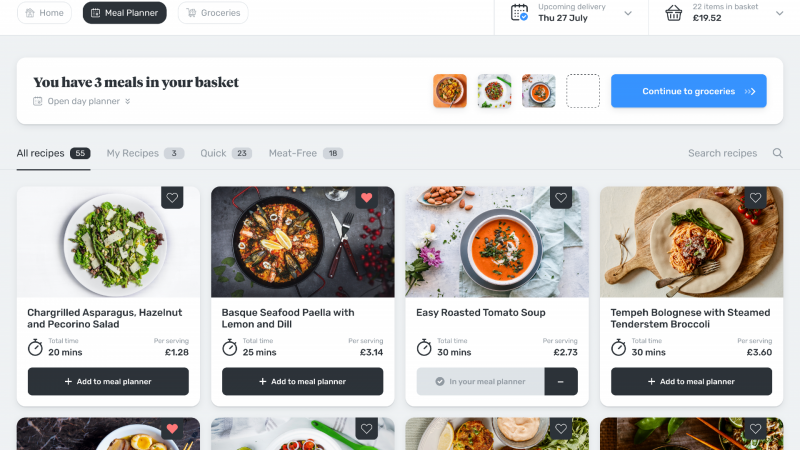 Lollipop, a new online meal planner and grocery shopping platform, is hoping to give its users a real-time overview of every product in their kitchen.