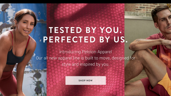 Peloton has launched its own apparel brand in a bid to compete with sportswear brands like Nike and Lululemon.