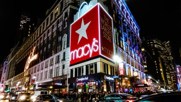 Amazon is embroiled in a legal battle with US department store giant Macy's as it attempts to stop the online giant advertising on a billboard outside its flagship New York store.