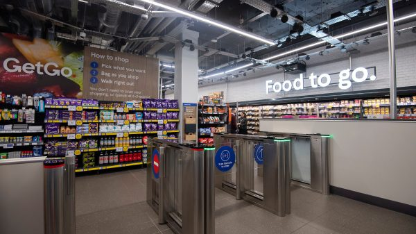 Tesco has opened its first ever autonomous supermarket in London to compete with Amazon's high-tech assault on the high street.