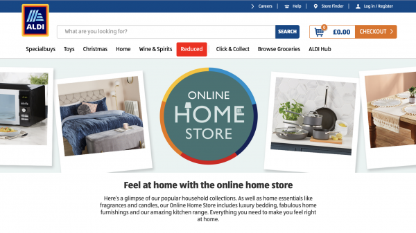 Aldi has announced that it has launched a new home online storefront on its social media sites.