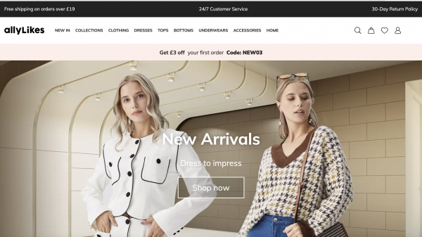 Alibaba has taken aim at fast fashion giant Shein with the launch of its own fast fashion platform, AllyLikes, to target western consumer markets.