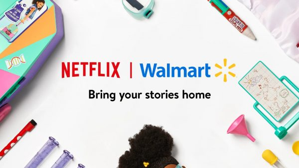 """Walmart and Netflix have teamed up to launch the """"biggest online retail destination for Netflix consumer products in the US."""""""